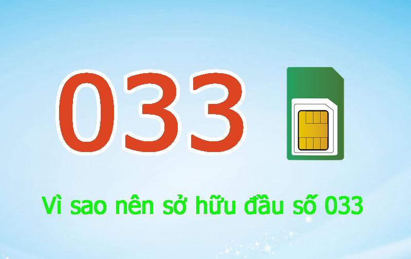 Dau So 033 Mang Viettel Mang Tai Loc