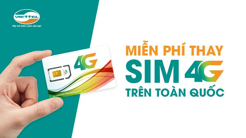 Cách đổi sim Viettel từ 3G sang 4G dễ dàng