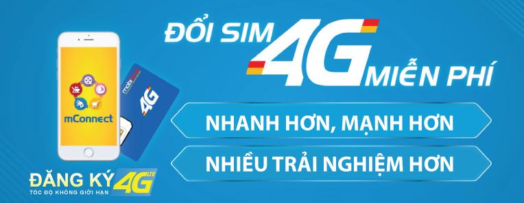 Chủ thuê bao có thể dễ dàng đổi sim Vinaphone từ 3G sang 4G.