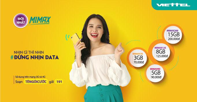 Gói Mimax cho phép khách hàng sử dụng dung lượng 3G tốc độ cao mà không phát sinh phí